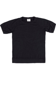 Rxmance Unisex Black Loose-Knit Short-Sleeve Tee