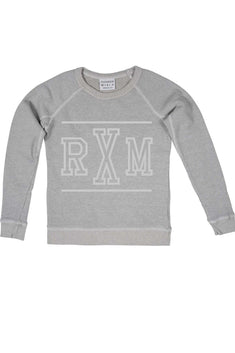 Rxmance Unisex Dawn-Grey RXM/Ten Crew Sweatshirt