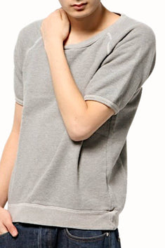 Rxmance Unisex Dawn-Grey Short-Sleeve Sweatshirt
