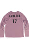 Rxmance Unisex Faded-Rose Jamaica Loose-Knit Long-Sleeve Tee