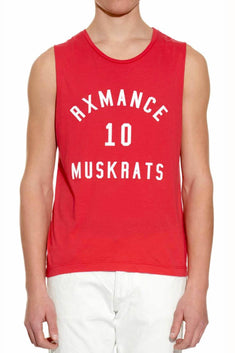 Rxmance Unisex Fire Red Muskrats Muscle Tee