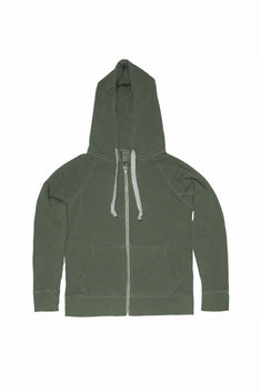 Rxmance Unisex Grass Green Hooded Zip Jacket