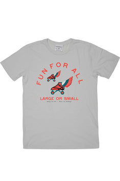 Rxmance Unisex Grey Fun For All Crew Tee