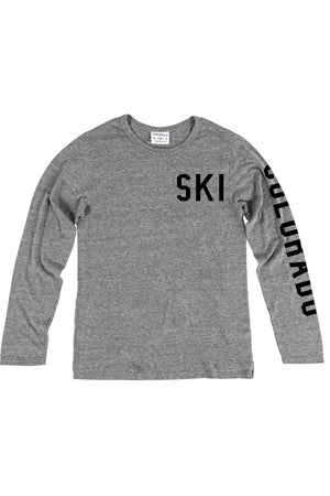 Rxmance Unisex Grey Ski Long Sleeve Tee