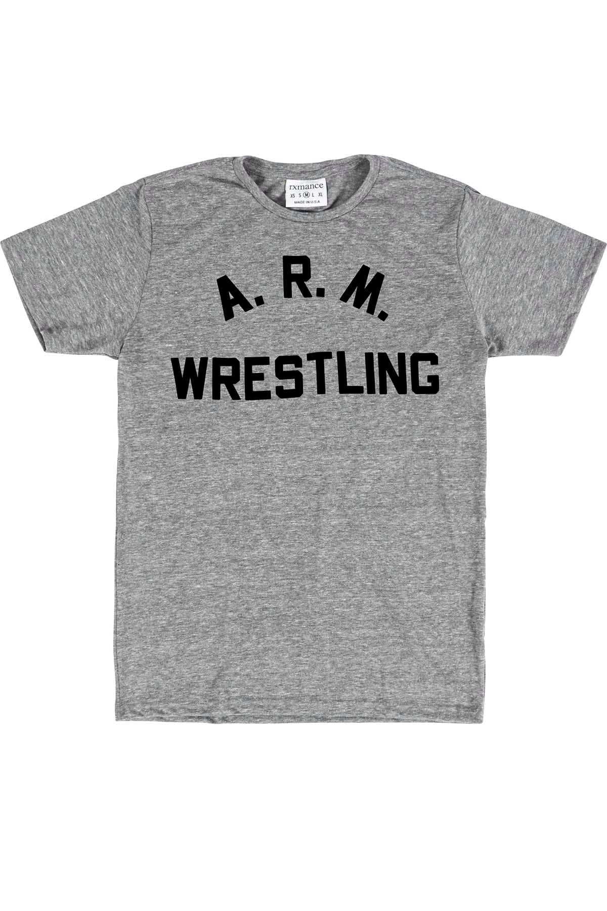 Rxmance Unisex Heather Grey 'Arm Wrestling' Tee