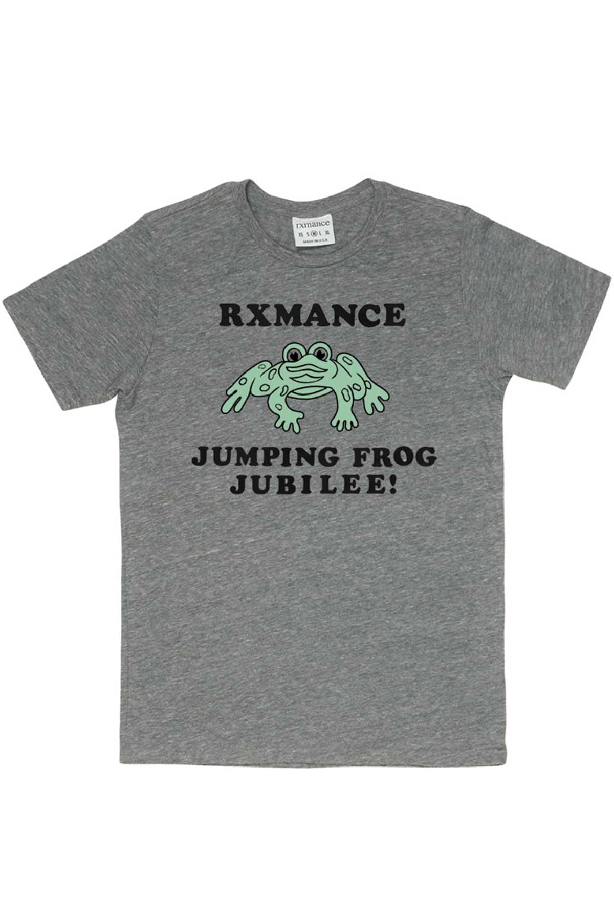 Rxmance Unisex Heather Grey 'Jumping Frog' Tee