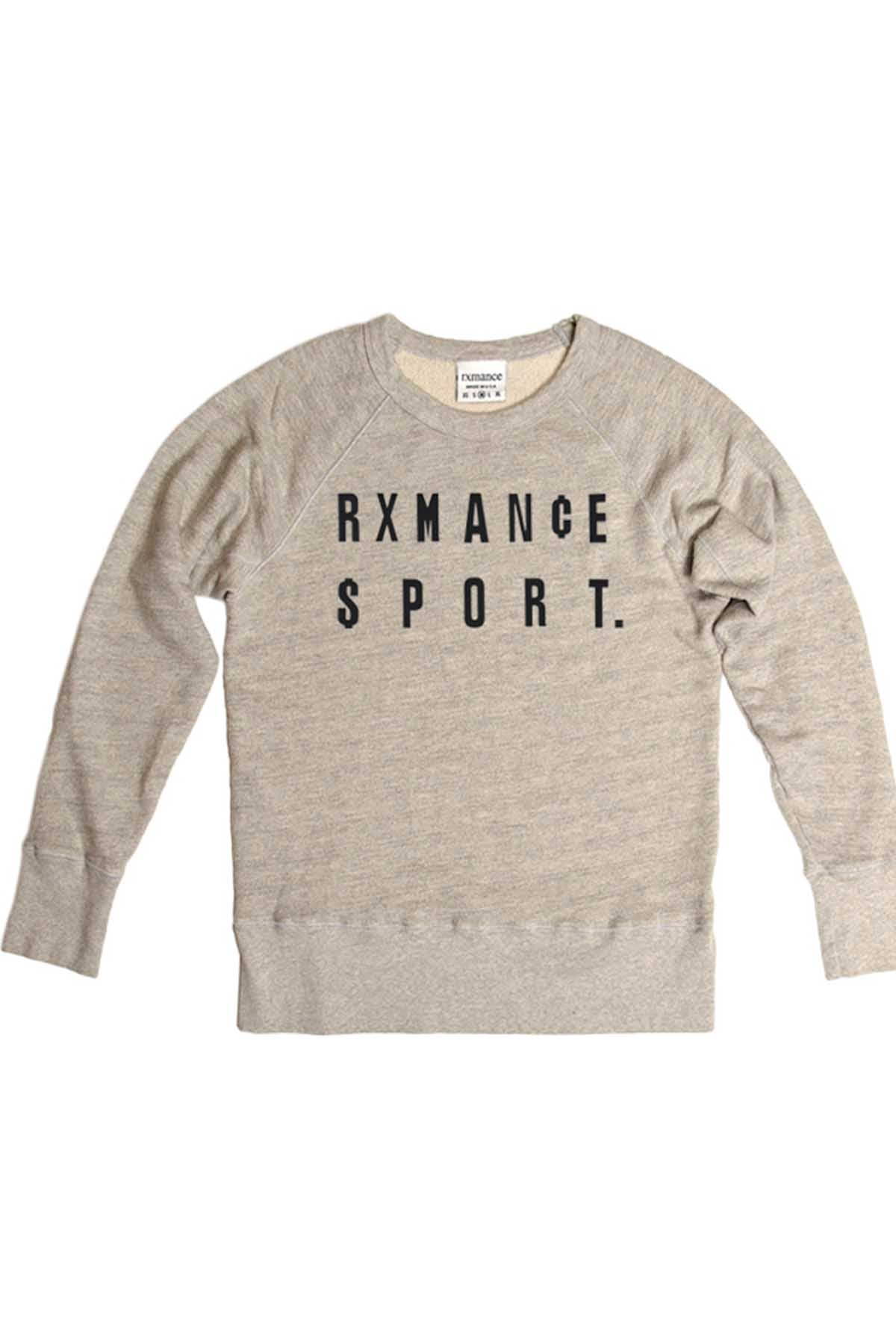 Rxmance Unisex Heather Grey 'Money' Sweatshirt
