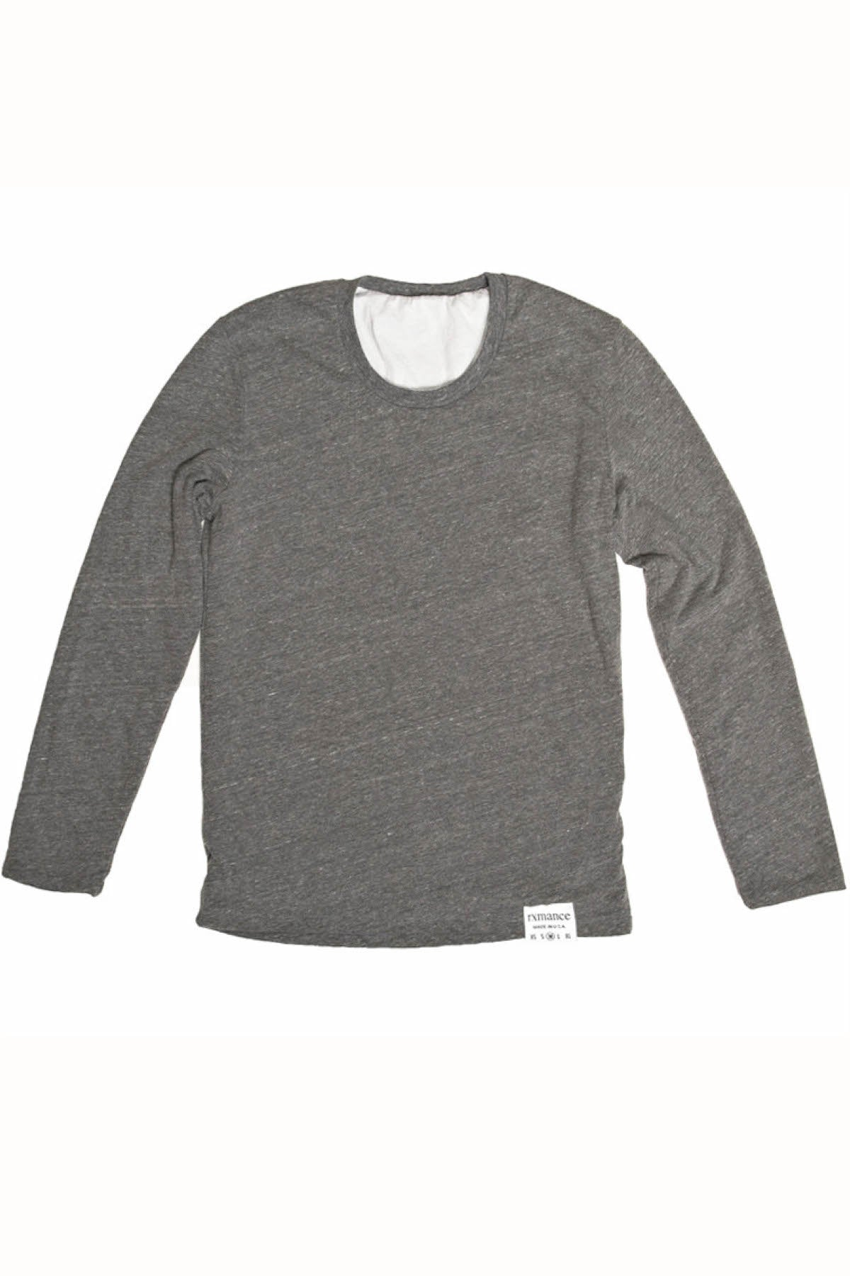 Rxmance Unisex Heather Grey Reversible Long Sleeve Tee
