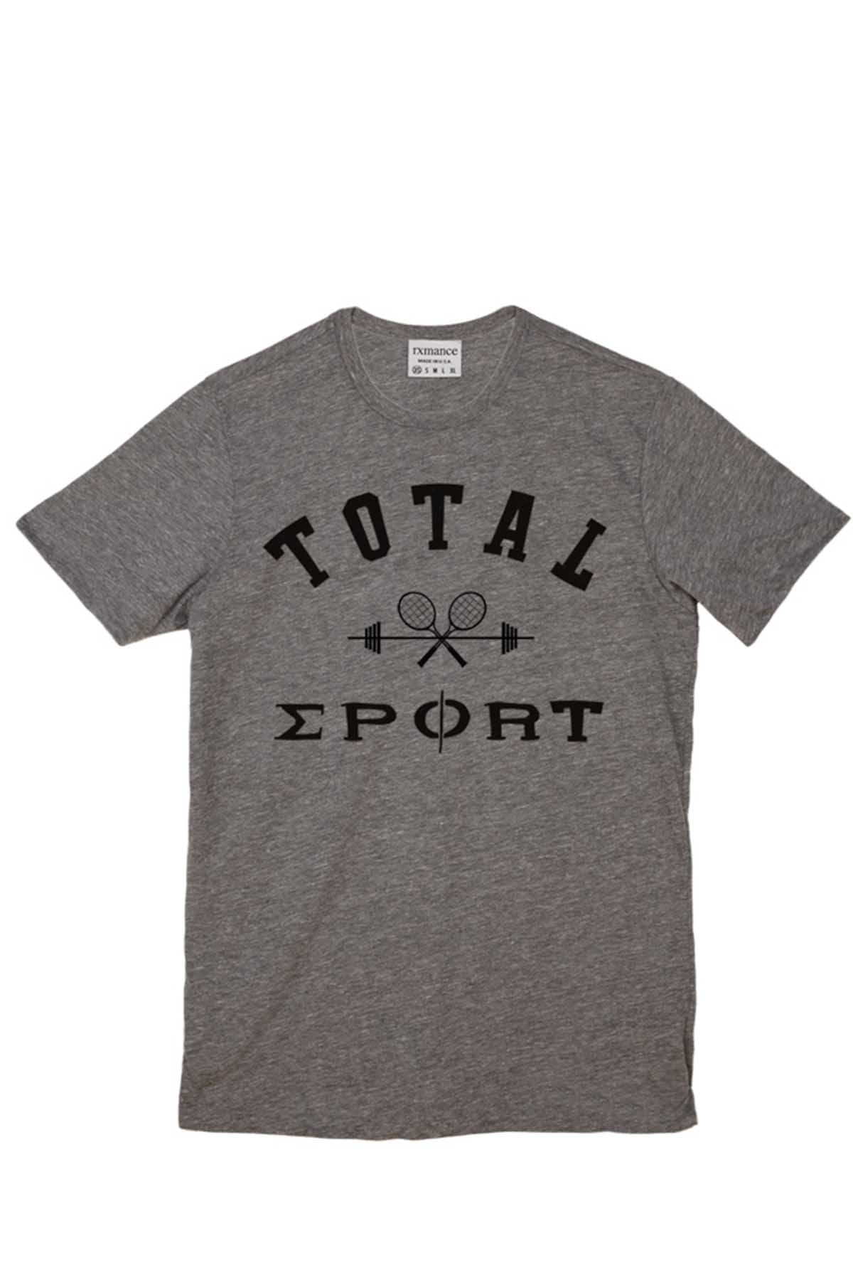 Rxmance Unisex Heather Grey 'Total Sport' Tee