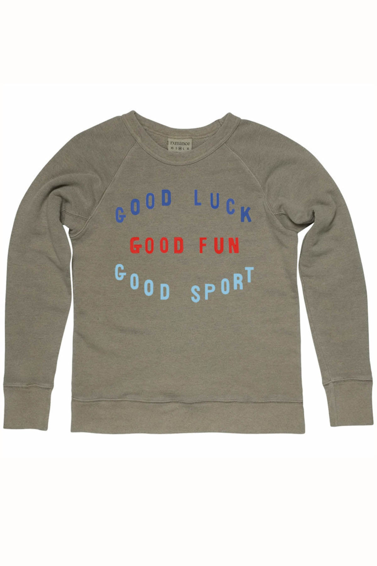 Rxmance Unisex Light Green Good Sport Sweatshirt
