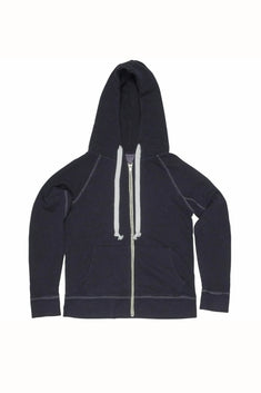 Rxmance Unisex Night Blue Hooded Zip Sweatshirt