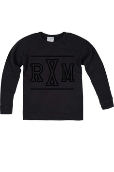 Rxmance Unisex Phantom Black RXM Ten Crew Sweatshirt
