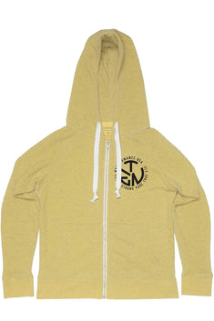 Rxmance Unisex Sunny Yellow Circle Ten Zip Hoody