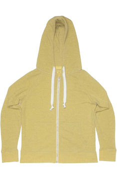 Rxmance Unisex Sunny Yellow Hooded Zip Sweatshirt
