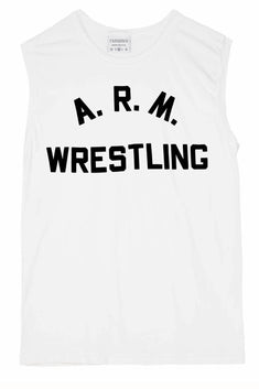 Rxmance Unisex White Arm Wrestling Muscle T