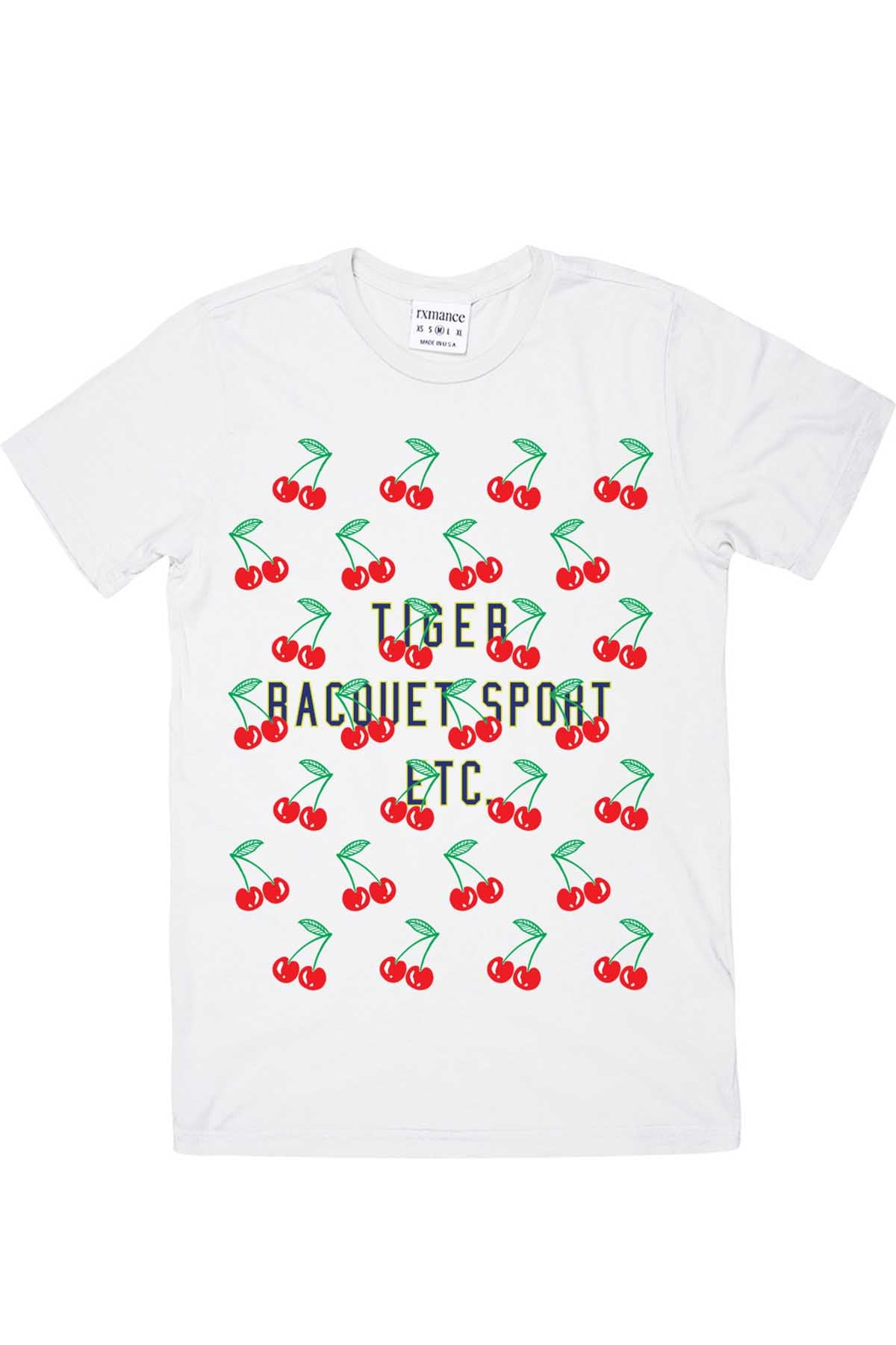 Rxmance Unisex White 'Cherries' Tee