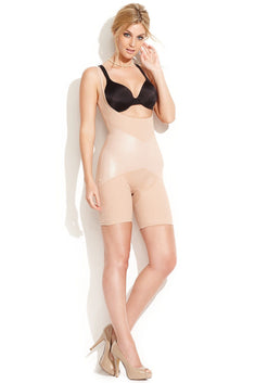 SPANX Natural-Glam Firm-Control Open-Bust Mid-Thigh Body Shaper