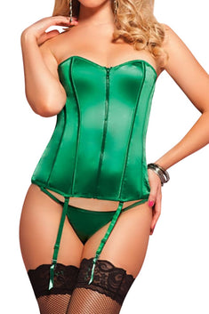 Seven 'Til Midnight Green Bustier Set