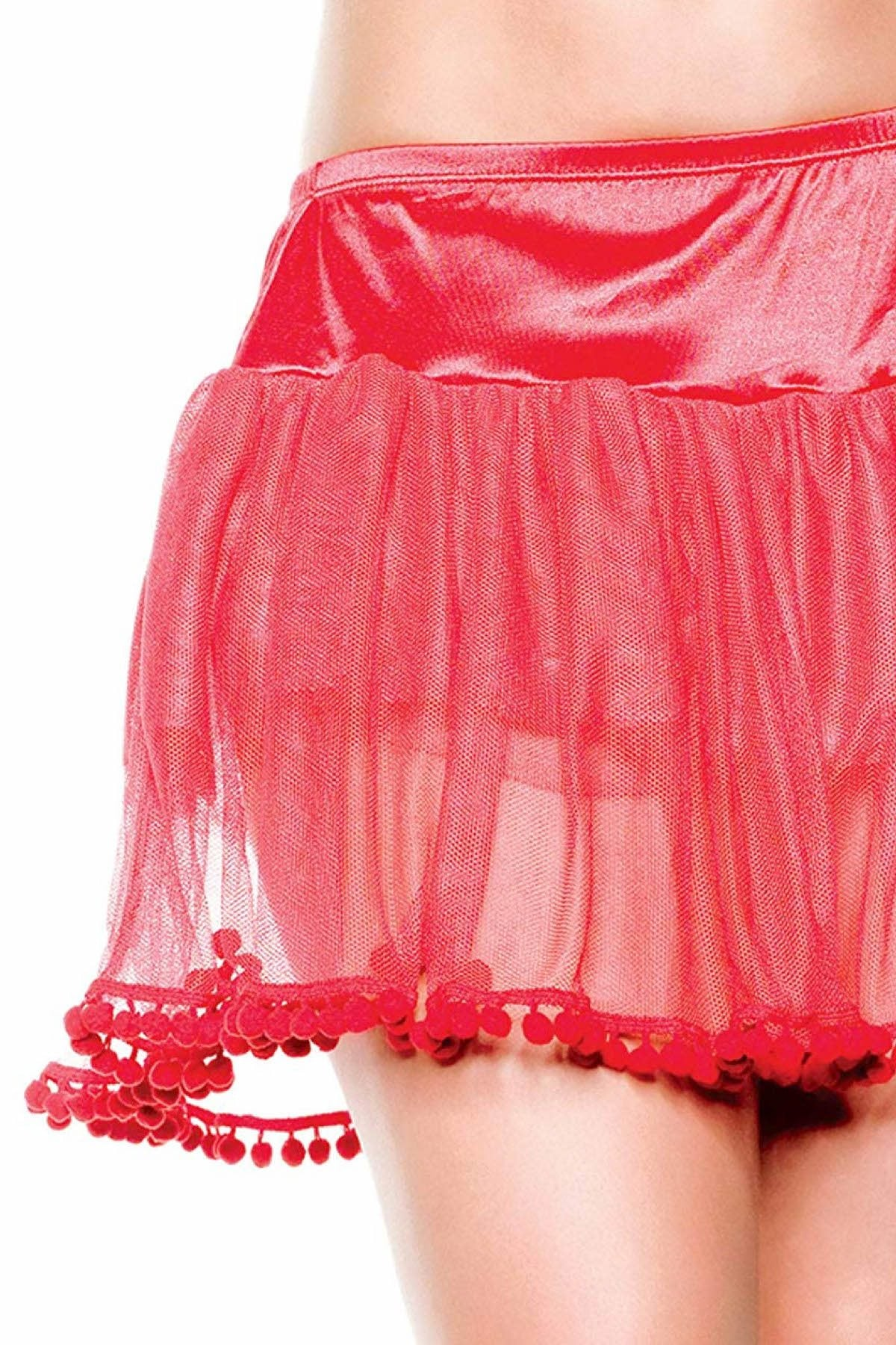 Seven 'Til Midnight PLUS Red PomPom Petticoat