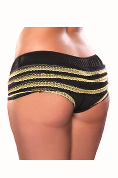 Seven 'Til Midnight Yellow Lace Ruffle Bootyshort