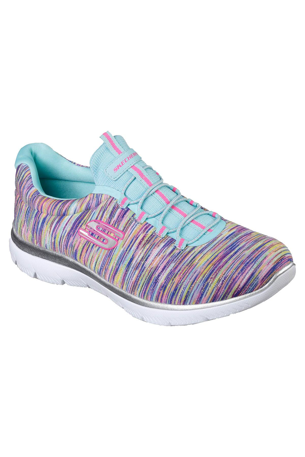 Sketchers Turquoise/Multi Summits Light-Dreaming Wide-Width Athletic Sneakers