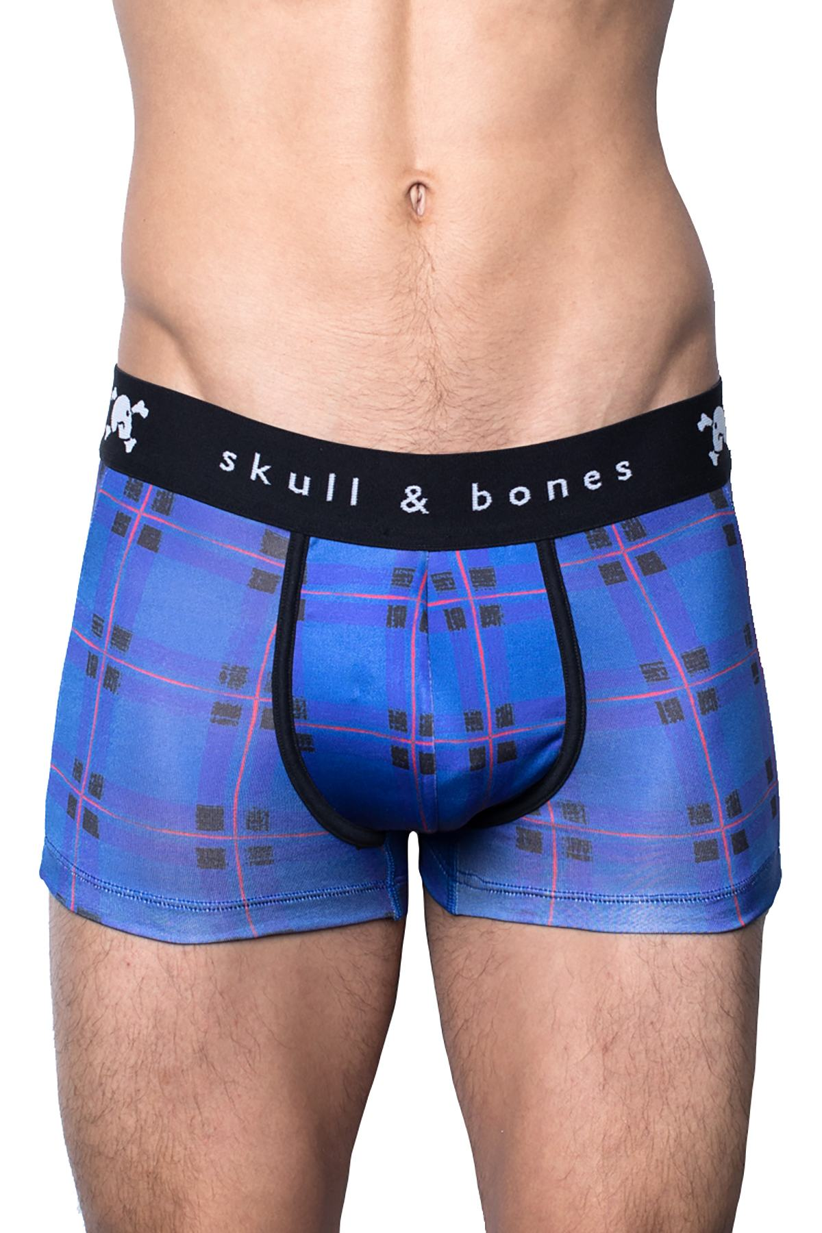 Skull & Bones Blue Plaid Trunk