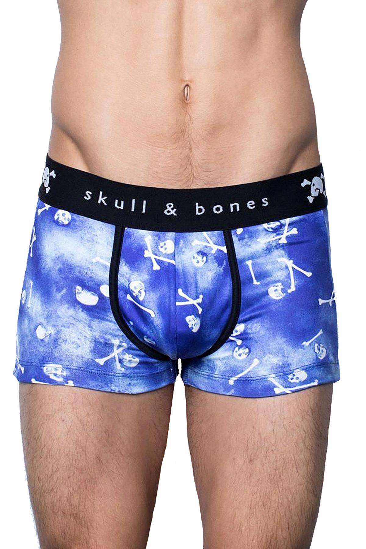 Skull & Bones Blue Tossed-Skull Trunk