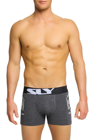 Sly Ash Marle Cop Issue Boxer Brief