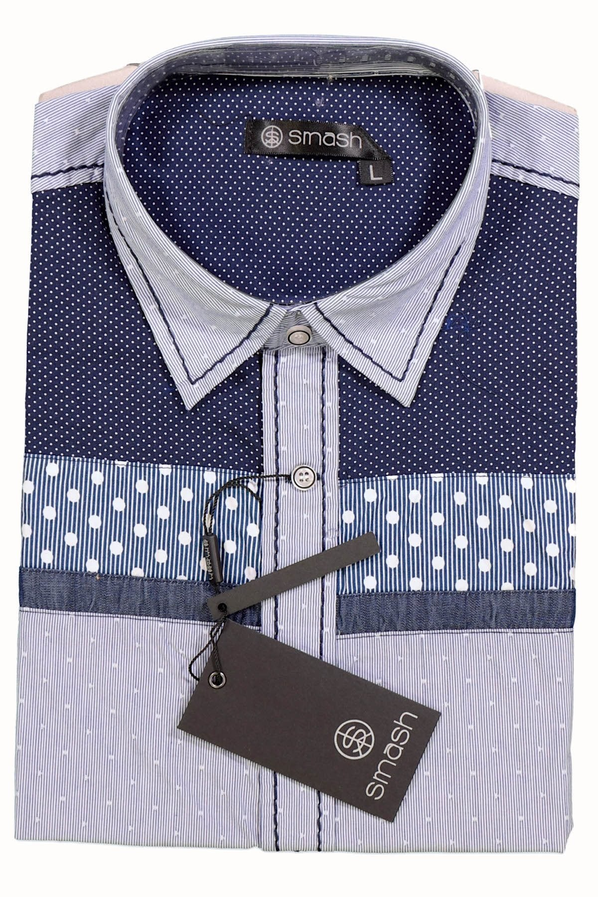 Smash Blue Polka Dot Button-Up Shirt