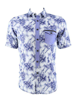 Smash Blue Wild Button-Up