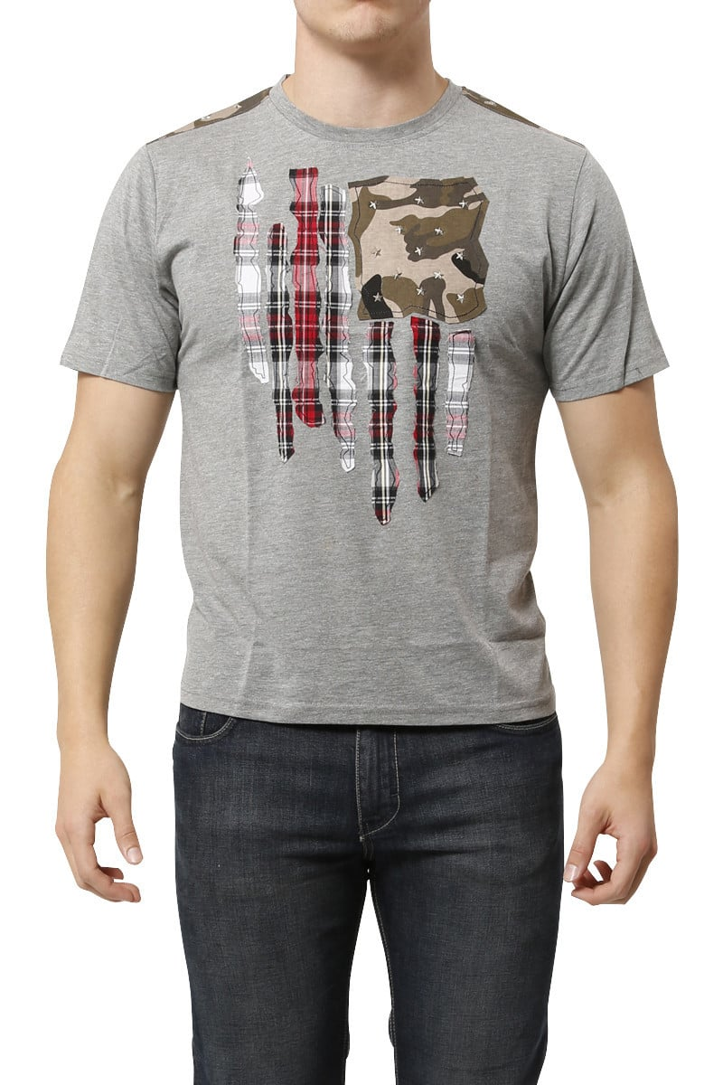 Smash Grey RIP Plaid Flag w/ Camo Tee