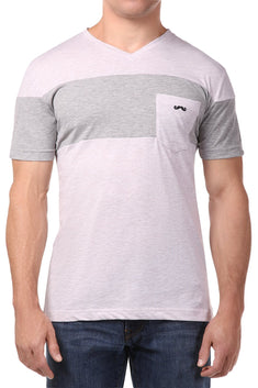 Spenglish Grey Color Blocked Tee