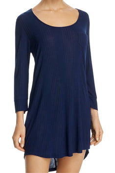 Splendid Navy Ribbed Keyhole Sleep-Dress