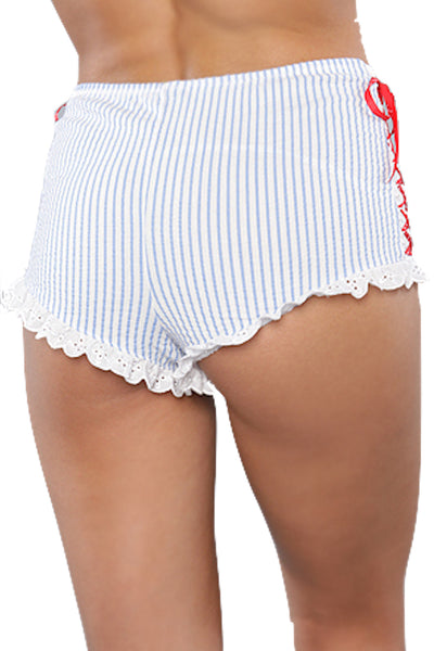 Spreegirl Blue Sweet Innocence Seersucker High Waisted Panty