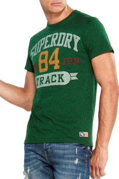 SuperDry Bright Midwest-Green-Grit Track/Field Tri T-Shirt
