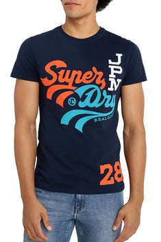 SuperDry Casual-Navy Triple Swoosh Lite T-Shirt