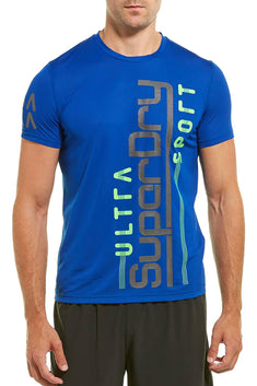 SuperDry Electric-Blue Ultra Vertical T-Shirt