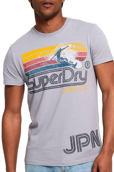 SuperDry Fjord-Blue Retro Surf T-Shirt