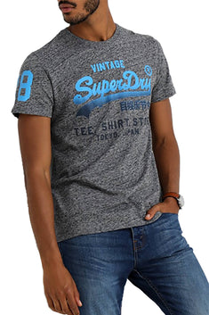 SuperDry Flint-Grey-Grit Shirt Shop Fade T-Shirt