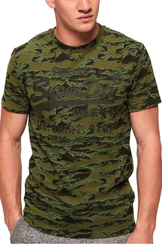 SuperDry Green Shirt-Shop Camo T-Shirt