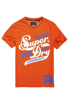 SuperDry Hacienda-Orange Original 77 Lite Weight T-Shirt