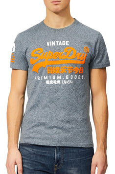 SuperDry Haze-Blue Grindle Premium Goods Duo T-Shirt