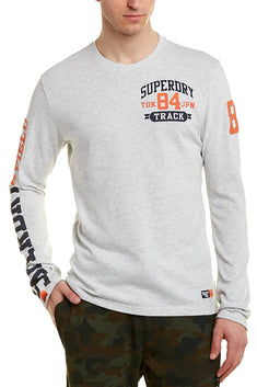 SuperDry Ice Yarn-Dye Track/Field Long-Sleeve T-Shirt