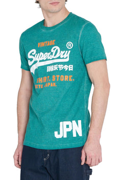 SuperDry Jade Shirt-Shop Duo Overdyed Logo Tee