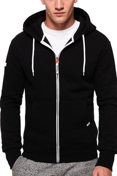 SuperDry Jet-Black LA Athletic Zip Hoodie