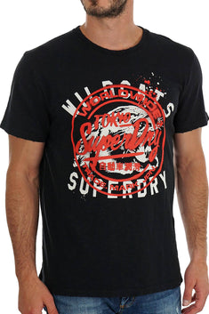 SuperDry Penny Royal Black Stencil T-Shirt