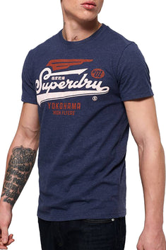 SuperDry Princedom-Blue Marl High Flyers Duo T-Shirt