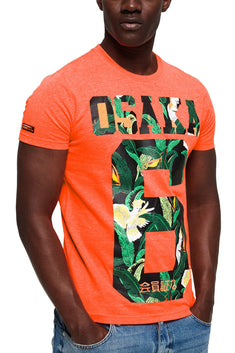 SuperDry Radiant-Orange Osaka Mid-Weight Graphic Tee
