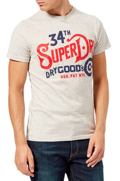 SuperDry Sea-Stone/Snowy-Grey NYC Goods Co T-Shirt