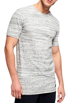 SuperDry Silver-Gravel-Grit Dry Originals Longline T-Shirt